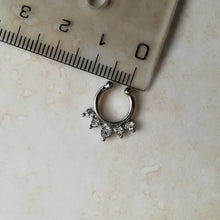 Load image into Gallery viewer, Silver Faux Septum / Daith Ring - No Piercing Needed!