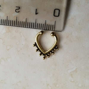 Gold Faux Septum / Daith Ring - No Piercing Needed!