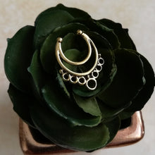 Load image into Gallery viewer, Gold Faux Septum / Daith Ring - No Piercing Needed!
