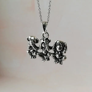 Three Wise Monkeys Necklace