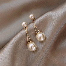 Load image into Gallery viewer, Subtle Pearl Drop Earrings