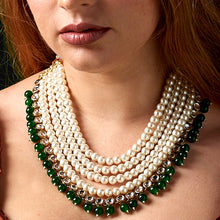 Load image into Gallery viewer, Pearls & Jade Necklace
