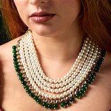 Pearls & Jade Necklace
