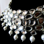 Silver Kundan Necklace perfect for special occasions.