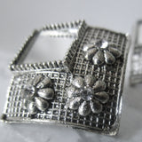 Silver Mirror Flower Studs - Perfect lightweight statement earrings for all occasions