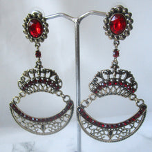 Load image into Gallery viewer, Ruby Chandelier Earrings