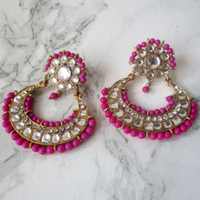 Load image into Gallery viewer, Pink Beaded Earrings