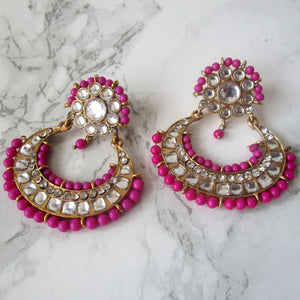 Pink Beaded Earrings