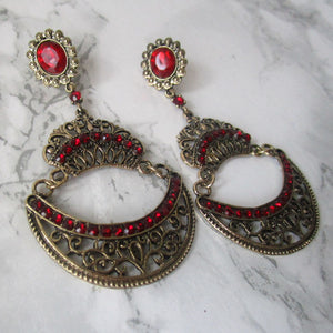 Ruby Chandelier Earrings