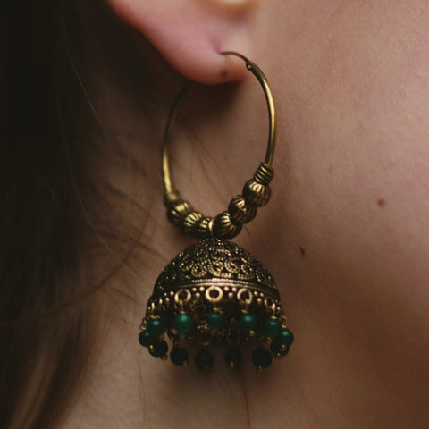 Gold Hoops with an Intricate and Detailed Design