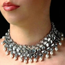 Load image into Gallery viewer, Silver Diamond Choker
