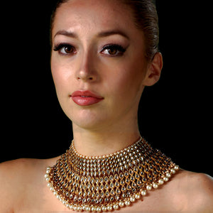 Regal Necklace Set with Earrings & Tikka