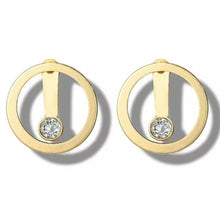 Load image into Gallery viewer, Gold Circle Diamond Ear Jacket