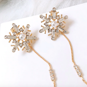 Crystal Snowflake Ear Jacket