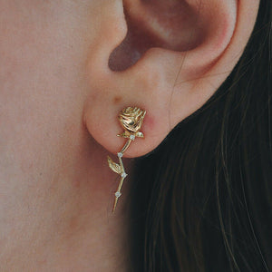 Dainty Rosebud Romantic Stud Earrings