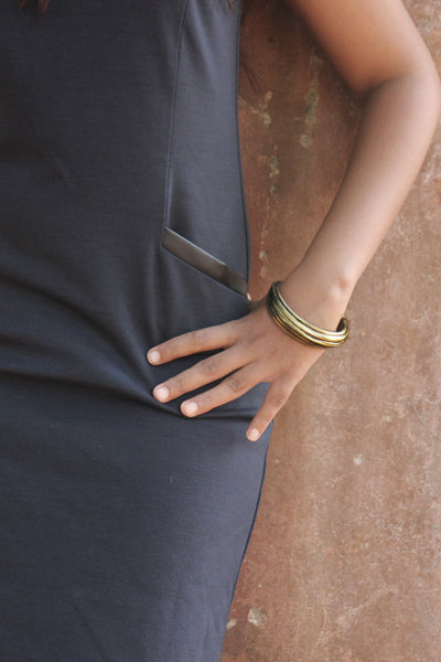 Aether Bangle in Espresso - Worn by model!