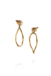 ManifestDesign - Drop Bud Earrings - Anti. Goldplate