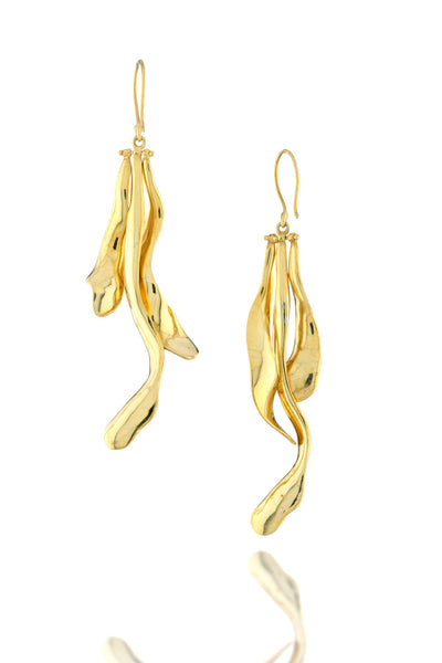 Dune Dangler Earrings in 18K Gold plating