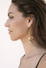 Dune Dangler Earrings in 18K Gold plating worn by you!