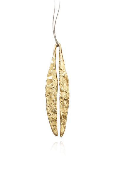 Quarry Long Leaf Pendent Gold Image - Front