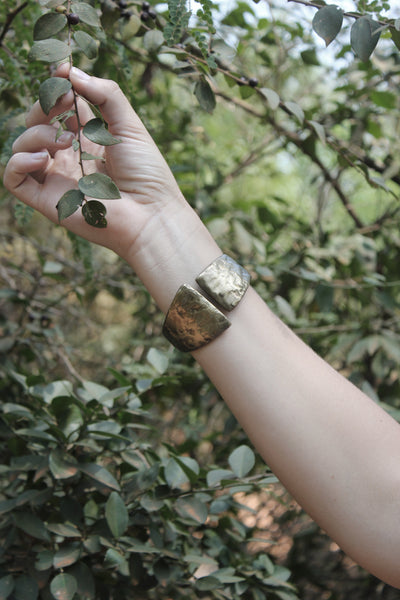 Quarry Tribal Bracelet in Espresso finish worn by model!