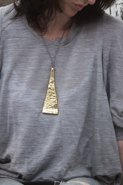 Quarry Tribal Pendent Gold Image - Worn by Model