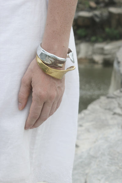 Quarry Twist Bracelet Silver image - Worn by model