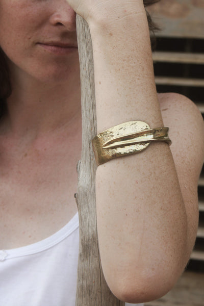Quarry Wrapped Bracelet Gold Image - worn by model
