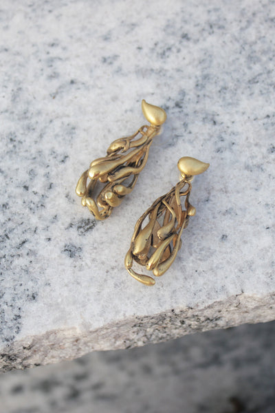 ManifestDesign - Rain Earrings - Anti. Goldplate