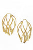 Ribbon Large Hoop Earrings