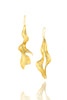 Sirena Leaf Earrings in 18K gold plating!