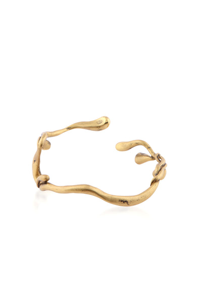 ManifestDesign - Sprig Bangle - Anti. Goldplate