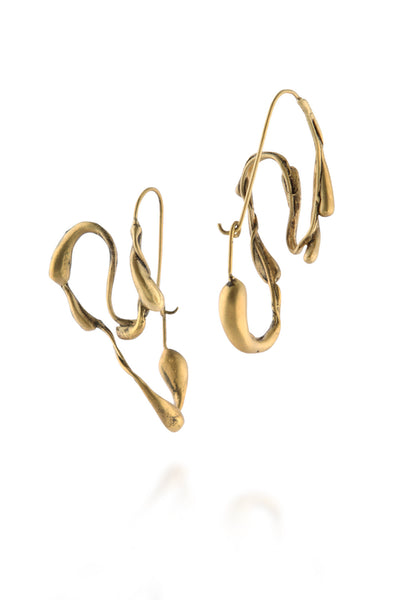 Manifest Design - Sprout Hoops - Anti. Goldplate