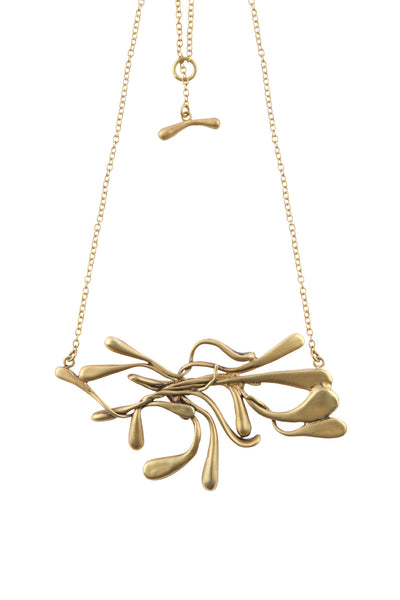 ManifestDesign - Sprout Necklace - Anti. Goldplate