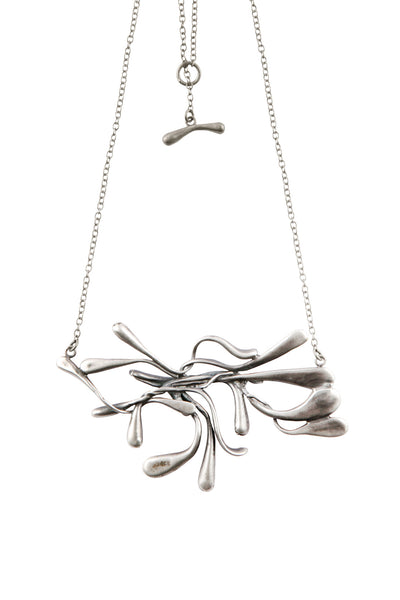 ManifestDesign - Sprout Necklace - Anti. Silverplate