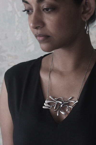 ManifestDesign - Sprout Necklace - Anti. Silverplate - Wearcase