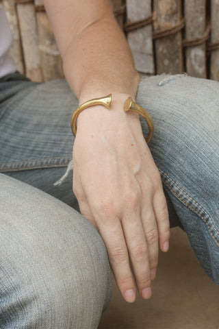 Totem Bangle Gold Image - Worn by Model