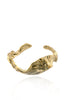Agung Coral Bangle in polished brass!
