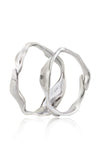 Dune Bangle - Set of 2 in Aluminum