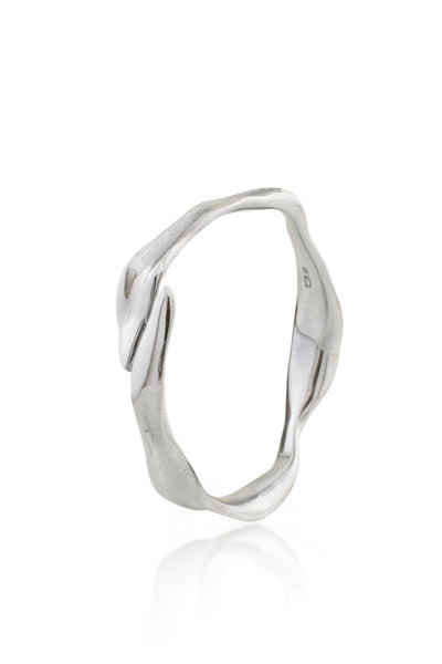 Dune Bangle in Aluminum - Single