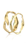 Dune Bangle - Set of 2 in polished Brass
