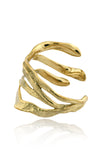 Dune Cuff in polished brass!