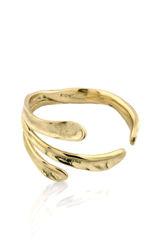 Sirena Bangle in polished brass!