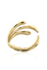 Sirena Bangle - Golden polished brass