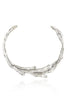 Sirena Collar Necklace in polished Aluminum