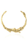 Sirena Collar Necklace in polished brass