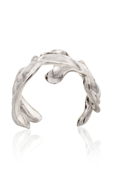 The statement Sirena Cuff in polished Aluminum