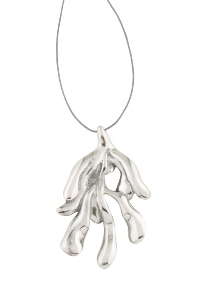 Sirena Pendent - Large in Aluminum - Back