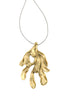 Sirena Pendent - Large in polished brass - Front