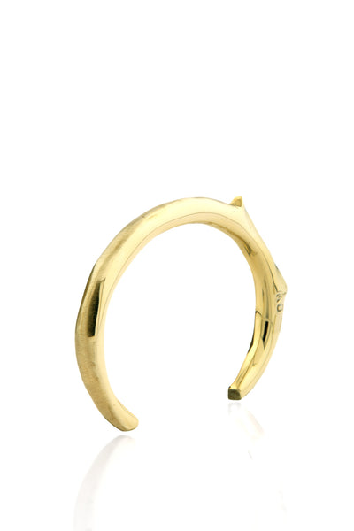 Totem Flat Bangle Set in polished Brass